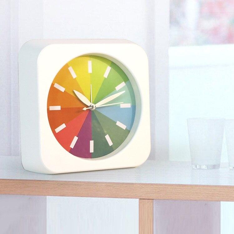 Home & Garden Creative Fashion Design Alarm Clock Super Mute Mini Table Desktop Clock Luminova Snooze Night Light Despertador Free Shipping Beneficial To The Sperm