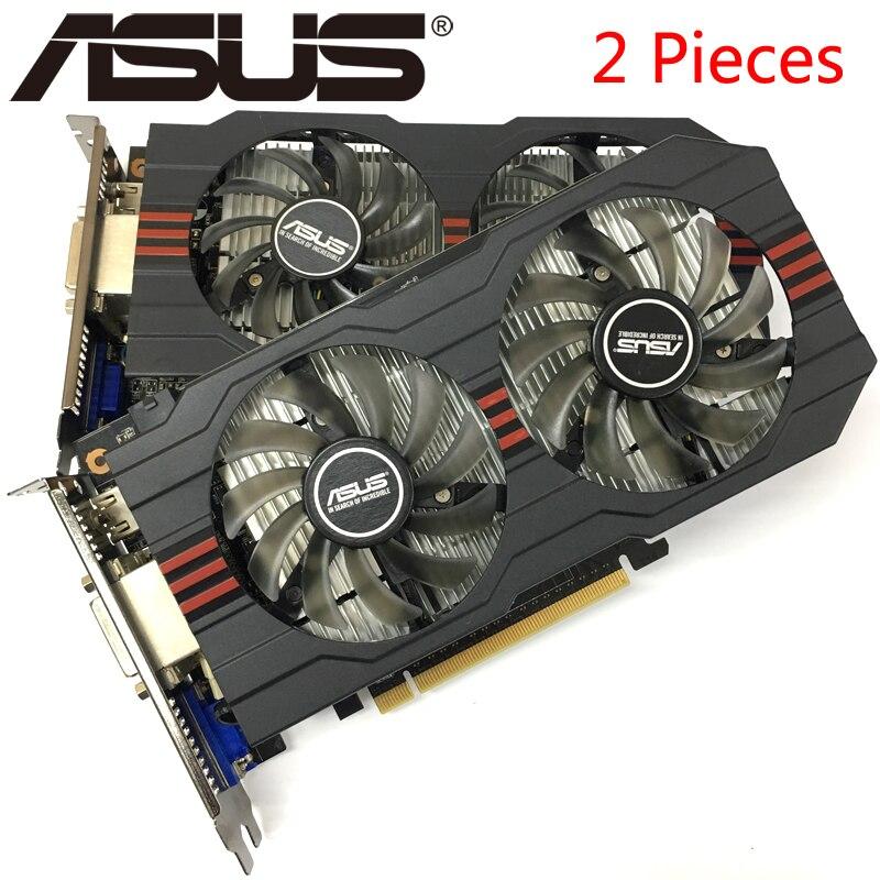 Asus 2 Stück Grafikkarte Original Gtx 750 Ti 2 Gb 128bit Gddr5 Video Karten Für Nvidia Geforce Gtx 750ti Verwendet Vga Karten Hdmi Dvi Online Shop