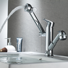 цена на JIKU Bathroom Faucet Copper Bathroom  Basin Hot And Cold Faucet Rotating Above Counter Basin Single Hole Basin Wash Basin Home