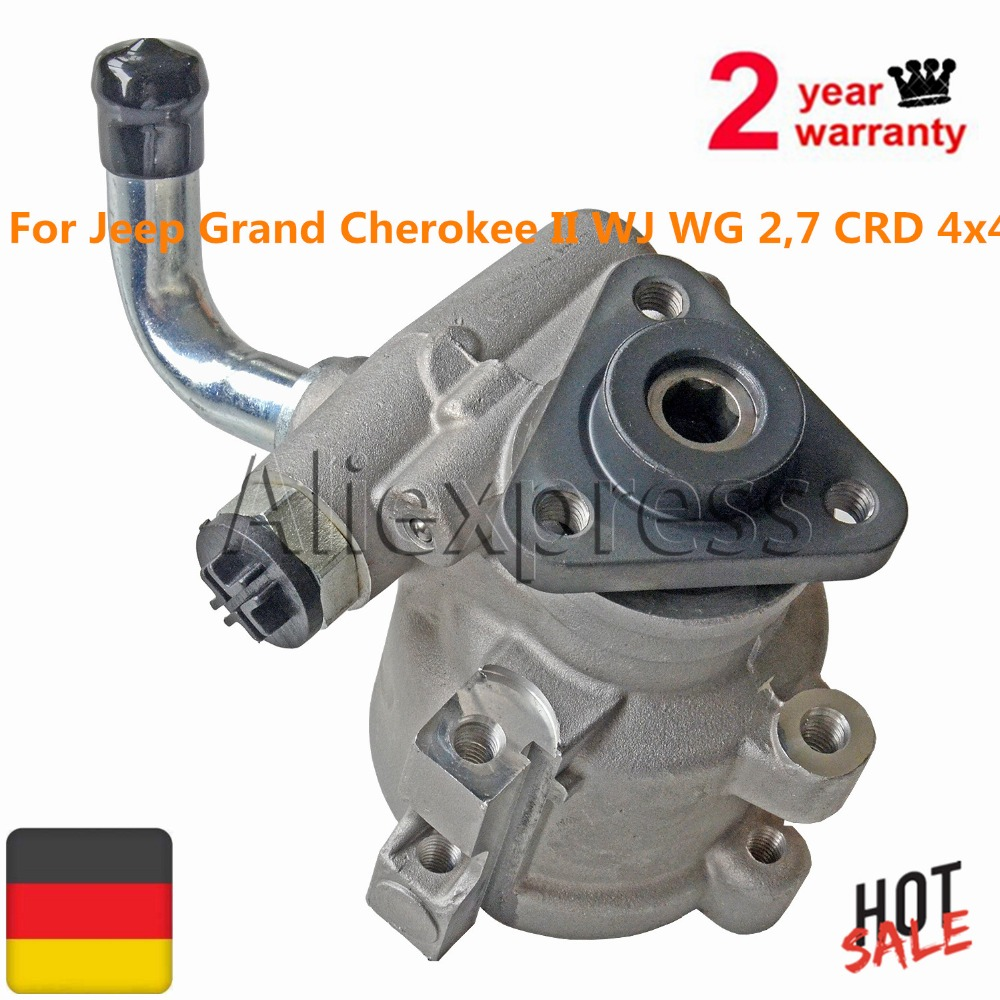 New Power Steering Pump For Jeep Grand Cherokee II WJ WG 2,7 CRD 4x4 52089301AA 52089301AB 52089301AC new power steering pump for car jeep grand cherokee suv 2 7 crd 4x4 diesel