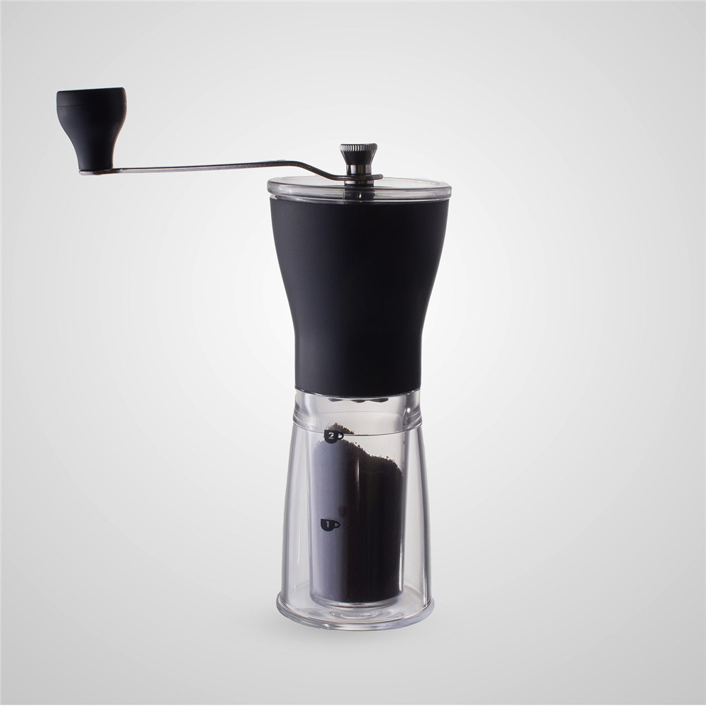 Mini Stainless Steel Manual Coffee Grinder Portable Hand Bean Mill with Adjustable Ceremic Burr Core Coffee