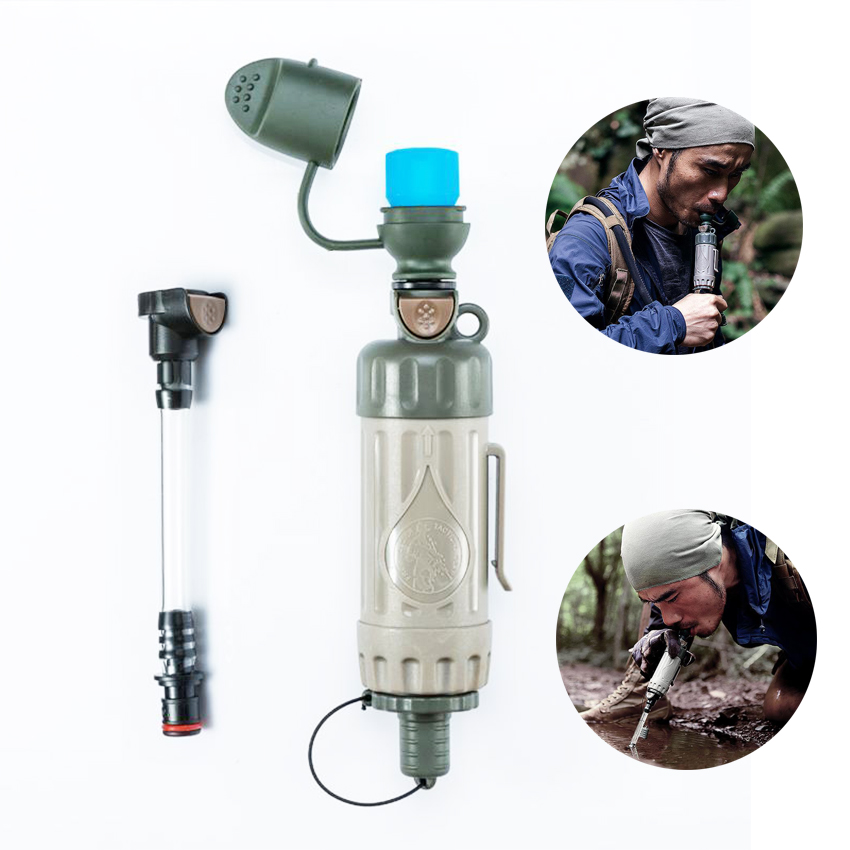 Portable Outdoor 2019 NEW Water Filter Purifier Drink Water Directly Emergency Survival Equipment With Water Filter