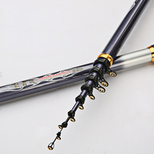 New Arrival 3.6-5.4m Rock Fishing Pole Long Casting Carbon Fiber Telescopic Rod Sea Saltwater Angling Tackle Kit