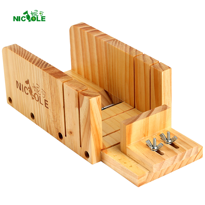 Adjustable Loaf Soap Cutter Wood Box Multifunction Cutting and Beveler Planer Tool for Handmade