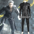 Final Fantasy VII Loz Costume Advent Children Loz Cosplay Costume Anime Adult Men Leather Outfit Halloween Male Black Customized