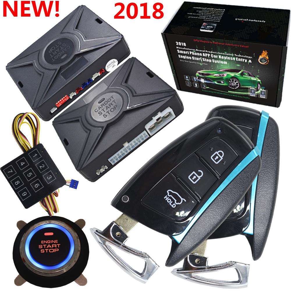 car Passive keyless entry automotive car alarm working with auto window up module engine start stop button remote car alarm rolling code rfid pke car alarm system push button start stop remote engine start passive keyless entry smart password keypad