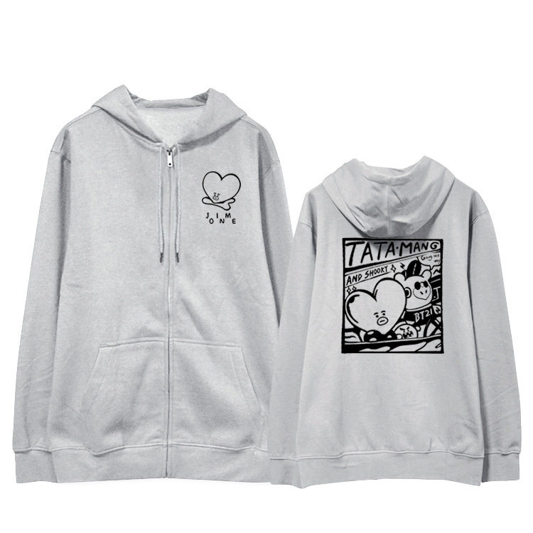 Kpop home BTS V Same Fans Club fashion Bt21 blouse hoody cool sweatshirt harajuku style man woman's hoodie with hat
