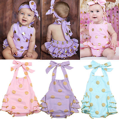 Polka Dot Baby Girls Clothes Backless Flounced Kid Girls Rompers Jumpsuit Playsuit One-Pieces Outfits 0-18M Blue Pink Purple polka dot baby girls clothes backless flounced kid girls rompers jumpsuit playsuit one pieces outfits 0 18m blue pink purple