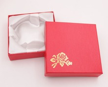 Lot 18 PCS Red Jewelry Box White Silk Cloth Bracelet Display Box 9cm 3.5  Handmade