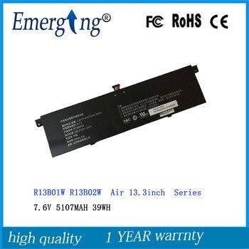 7,6 V 39WH 5107 MAH nuevo R13B01W R13B02W batería del ordenador portátil para Xiaomi mi aire 13,3 inch 161301-01 R13B01W r13B02W