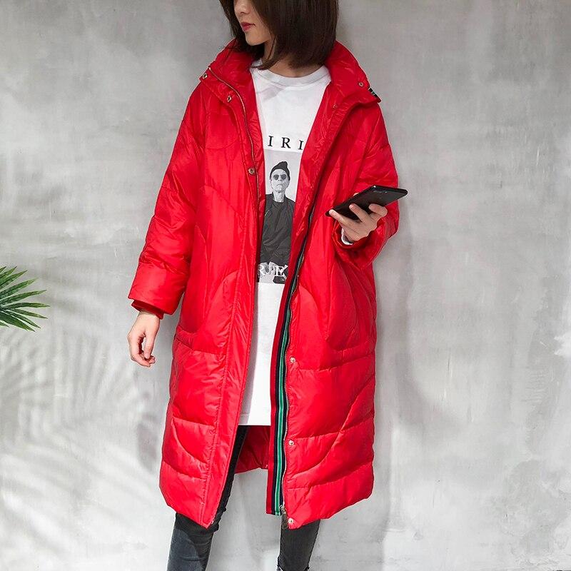 Black Marque 2019 Hiver Épais Grande Longue Chaud Décontracté Pardessus Manteau Taille red Doudoune Montant white Couleur Femmes Lovers Femelle Parka Solide Col Hqwdv4v