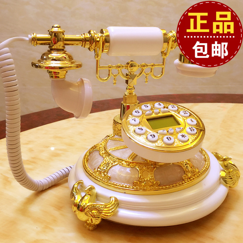 The wireless card to do the new European white antique noble Retro Vintage telephone landline corded phone ringing tones