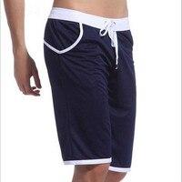 Wj marca de verão calções esportivos casuais dos homens calças elásticas masculino capris moda na altura do joelho-comprimento de slim academias shorts treino rápido-seca