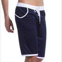 Summer Casual Sports Shorts Men Trousers Elastic Shorts Men Europe Capris Fashion Sports Knee Length Slim