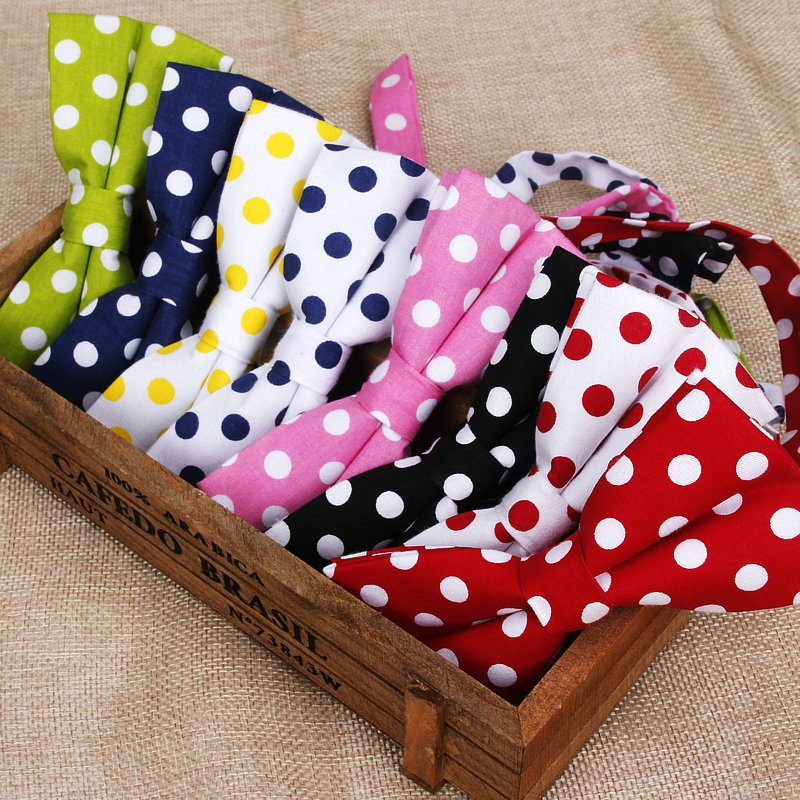 Hot New Men's Bowtie Neckwear Classic Dots Bowties For Wedding Party Fashion Casual Man Business Polka Dot Bow Ties Cravat