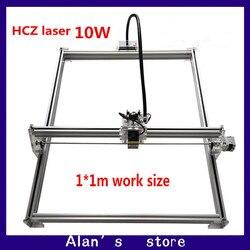 DIY 10Whigh mocy laserowa maszyna grawerująca metalowe do cięcia laserem cnc maszyna do 1*1m szeroki rozmiar laserowa maszyna grawerująca maszyna do znakowania