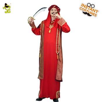be7f3e26ac Venta caliente de los hombres árabes Pilgrim traje mascarada rojo  tradicional árabe Robe Cosplay trajes árabes para hombre adulto