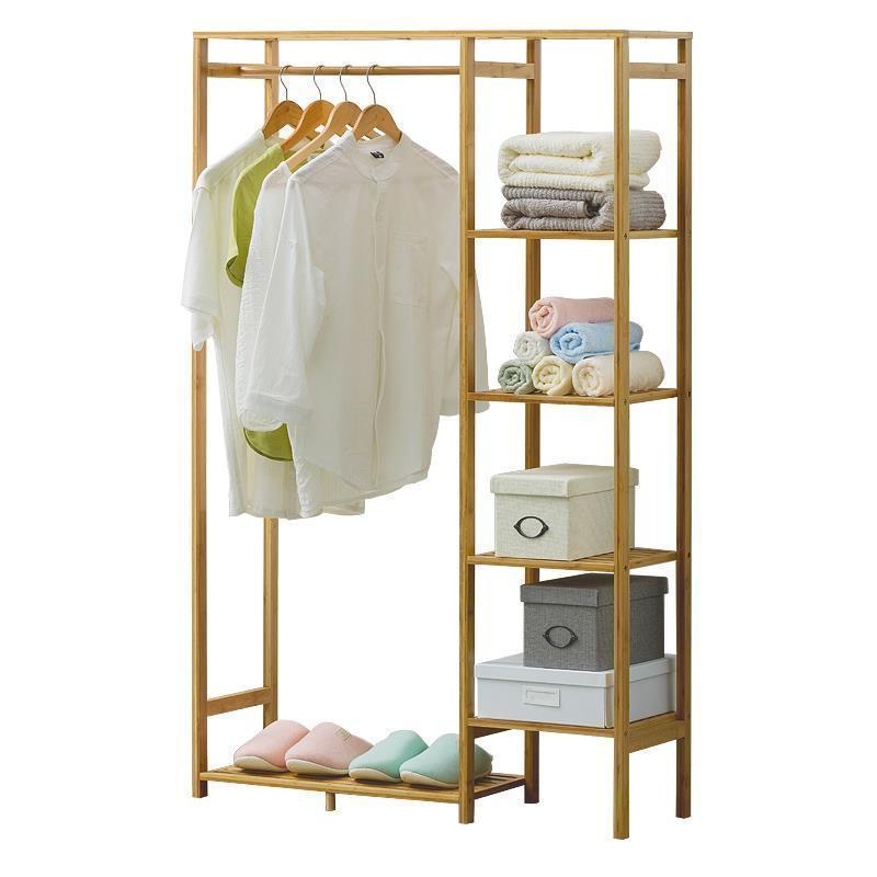 Armoire simple en bois cintre étage salon chambre rack de stockage de vêtements Wieszak Cabide Perchero Manteau Vêtements Stand