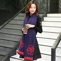 2016 Inverno mulheres Lenços de Cashmere de seda macia e Quente de Alta Qualidade Luxo Mulheres foulard pashmina shemagh rosa Flor cachecol de caxemira