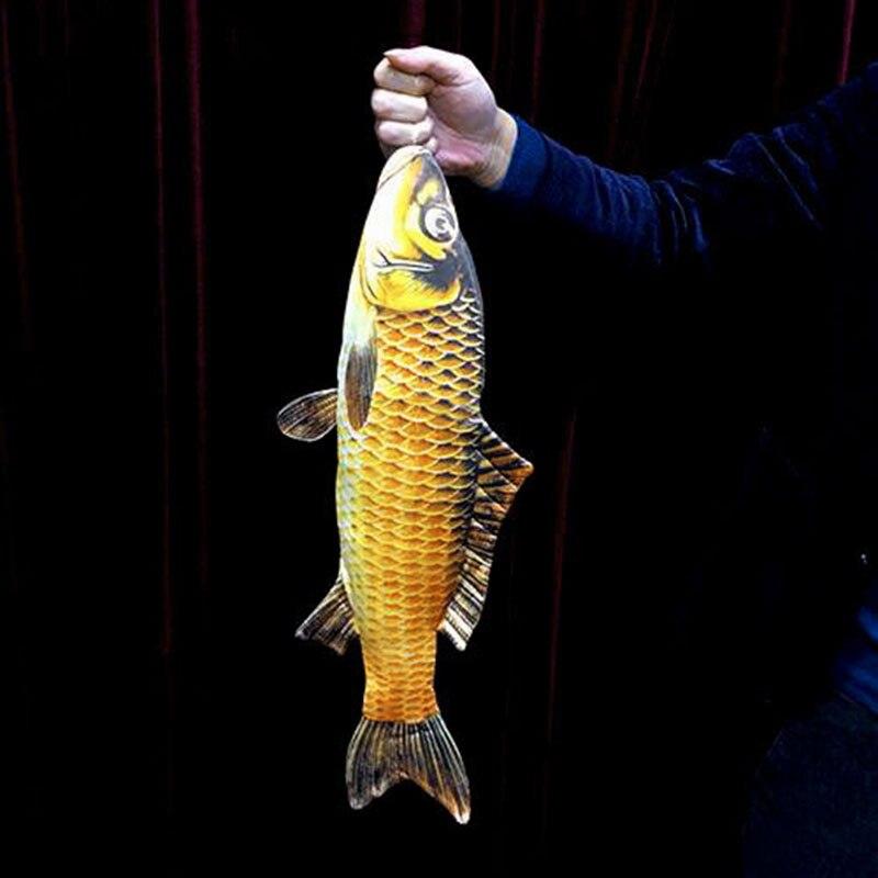 2018 FISM nouveau poisson apparaissant (54 cm) tours de magie poissons apparaissant de la carte étui Magia magicien scène Illusions Gimmick accessoires amusant - 2