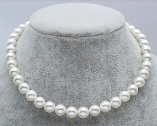 ~! New JAPANESE AKOYA PEARL NECKLACE 8-9mm White 17.5 AAAA+ WW