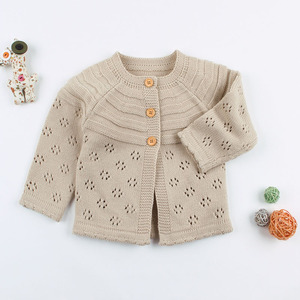 Image 5 - Baby Girls Cardigan Toddler Sweater Infant Coat Hollow Out Fashion Cute Infant Girls Knitted Jacket RT197