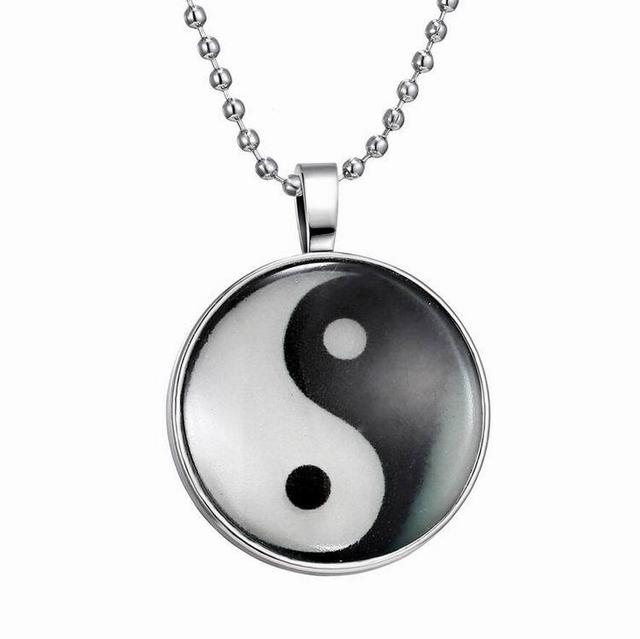 Chinese Style Symbol Pendant Necklace Eight Diagrams Yin And Yang