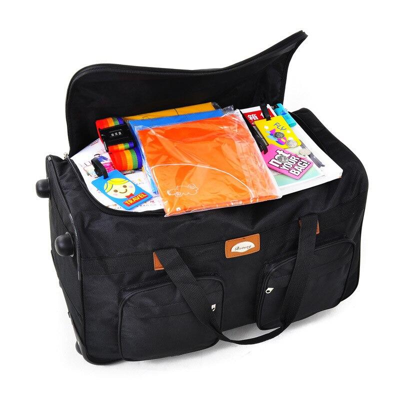"""Bagaj ve Çantalar'ten Seyahat Çantaları'de 26 """"32"""" genişletilmiş seyahat ambalaj kutusu Katlanabilir Su Geçirmez arabası bagaj çantası seyahat çantası oxford tekerlekli Haddeleme'da  Grup 2"""