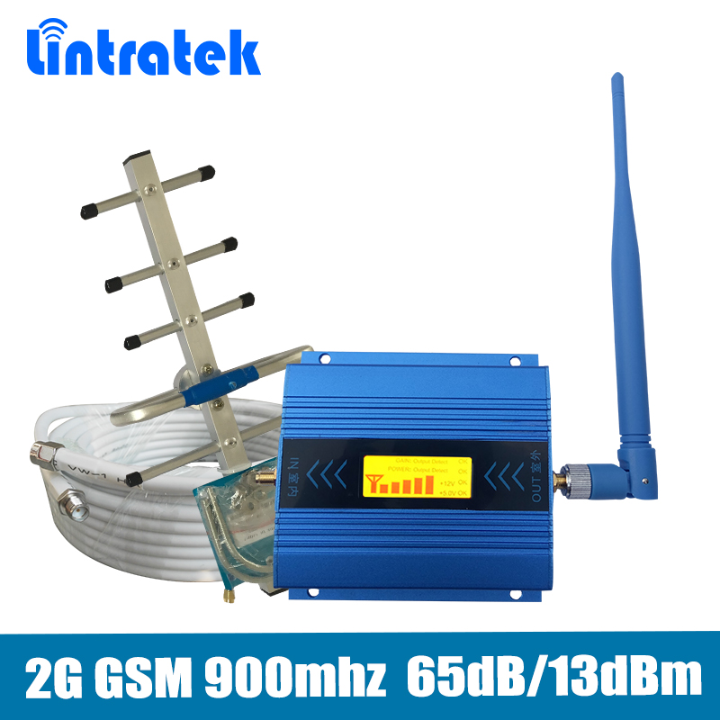 GSM 900mhz Signal Repeater Gain 65dB 2G GSM 900MHz Mobile Signal Booster Amplifier full set with Yagi/whip antenna+10m cables