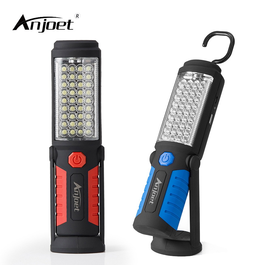 ANJOET Portable Light 36 + 5 LED Flashlight USB Charging Work Light Magnetic + HOOK + Mobile <font><b>Power</b></font> for Can help phone charge