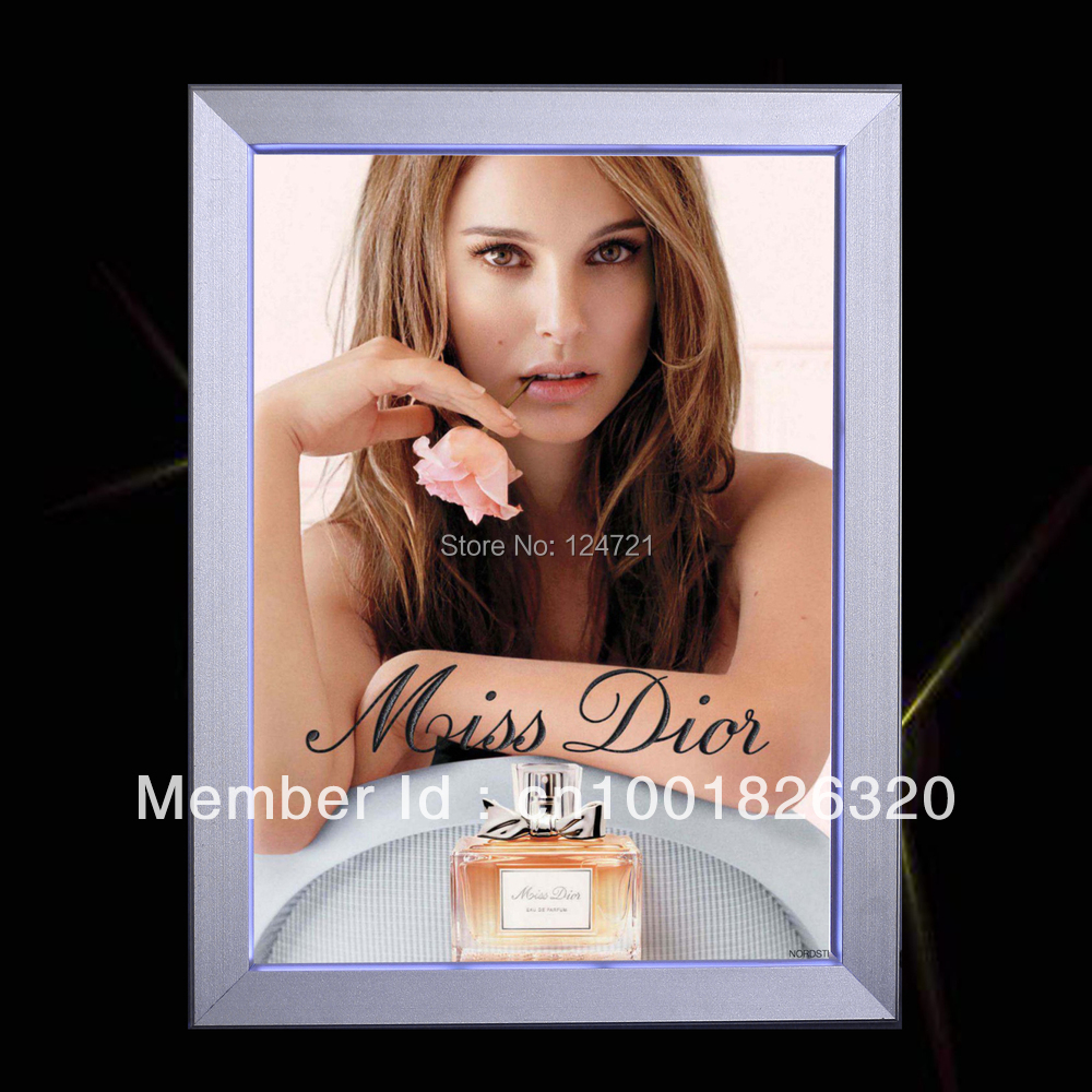 Aluminum led slim light box,brand showcase panel led publicity a2 frame aluminium snap frame кабель publicity hd580 hd600 hd650