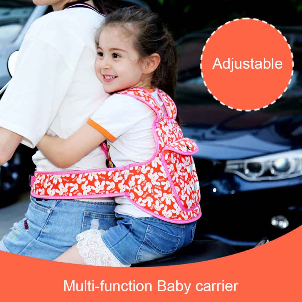 Gentle Children Safety Belt Back Strap Motorcycle Seat Harness Adjustable Breathable For Outdoor S7jn