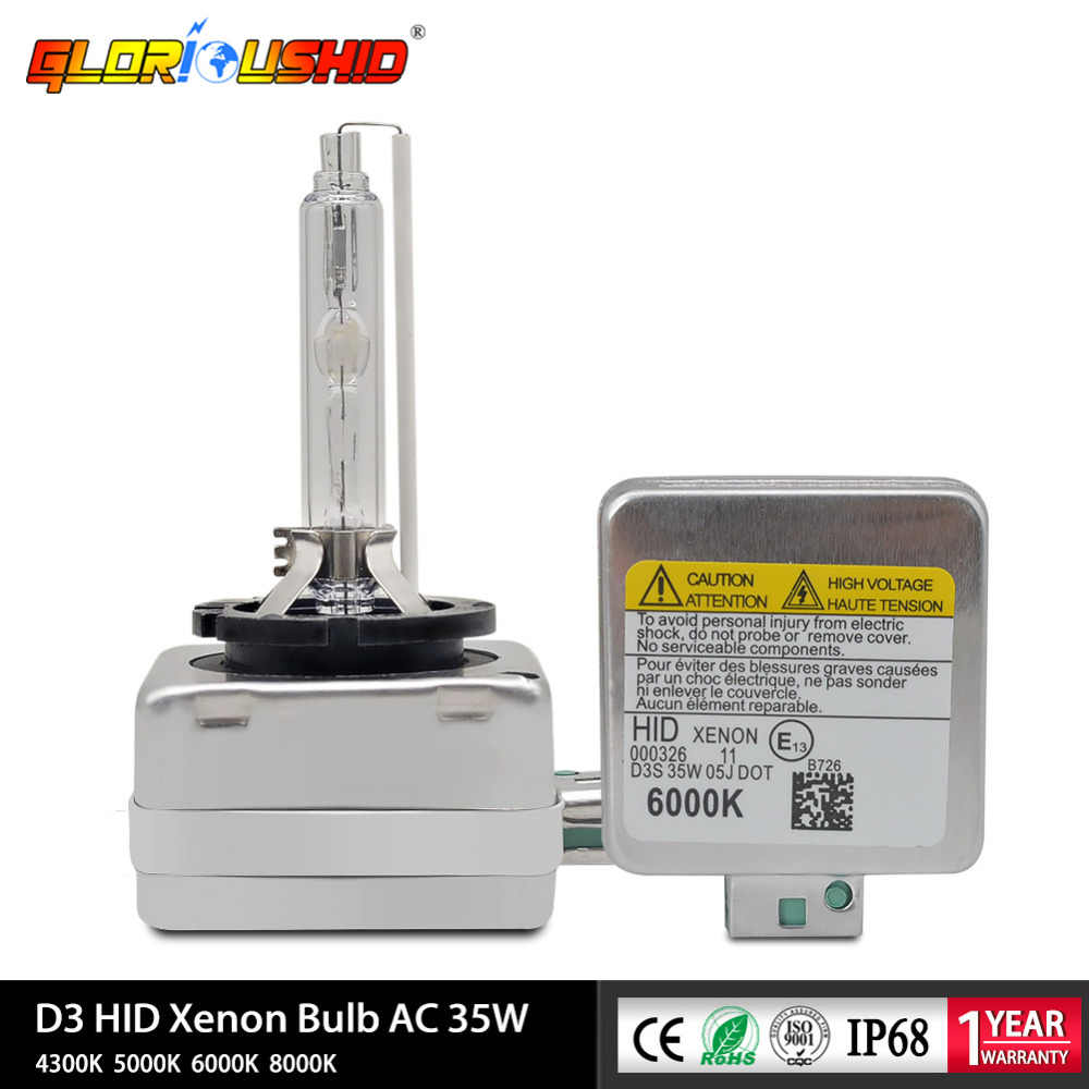 One Pair D1S Xenon D2S D2R D3S HID Bulb Metal Base Xenon Headlight Bulbs 4300K 5000K 6000K 8000K Auto Car Light Lamp 12V