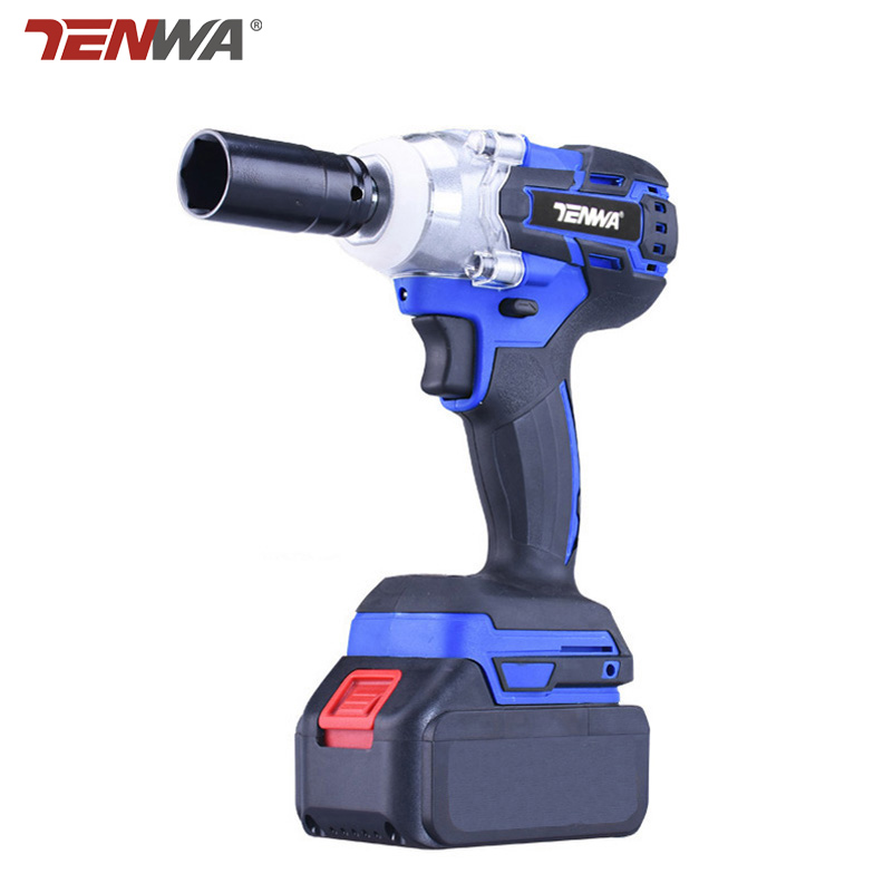 TENWA 21v Brushless electric wrench rechargeable electric battery Multifunction wrench Power Tools 2 batteries kit Avaliable tenwa 21v 4000mah electric impact wrench home repair power tool lithium battery cordless wrench 280n m brush brushless drill