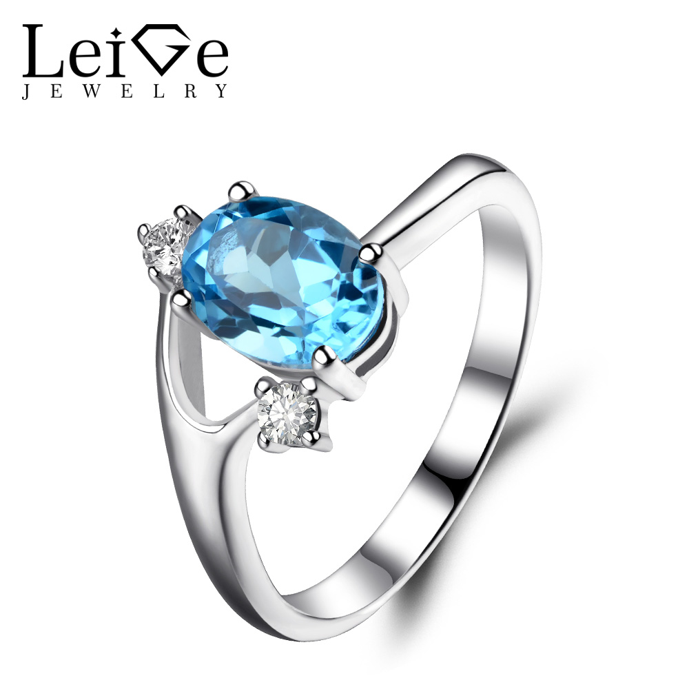 Leige Jewelry Oval Cut Swiss Blue Topaz Ring Sterling Silver 925 Wedding Engagement Rings for Women Blue Gemstone Fine Jewelry leige jewelry swiss blue topaz ring oval shaped engagement promise rings for women 925 sterling silver blue gemstone jewelry