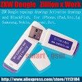 100% original Zillion x Trabalho/ZXW dongle com software desenhos de reparação para o iphone nokia samsung htc e tão livre grátis