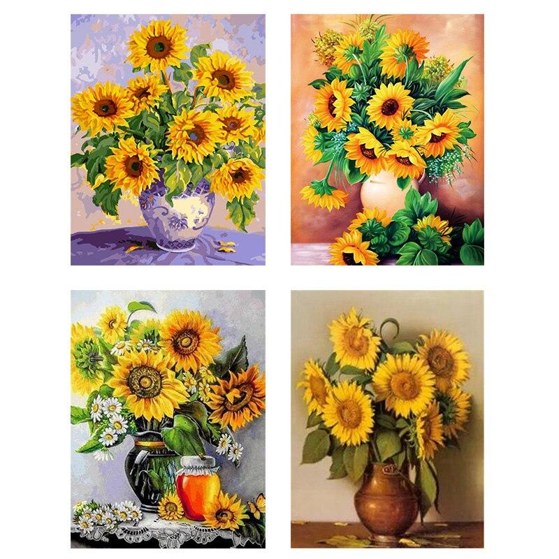 Artistic Still Life Beautiful HP Design Needlepoint Canvas The Sunflowers