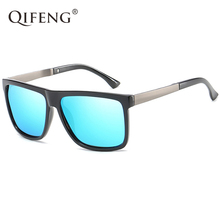 QIFENG Polarized Sunglasses Women Men Fashion Driver Square Sun Glasses For UV400 Male Safety Driving Fishing Oculos de QF035