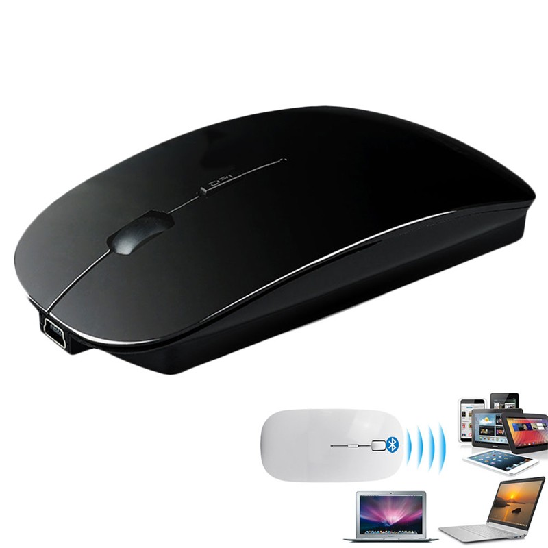 P Mouse Senza Fili Ricaricabile Bluetooth 3.0 Wired & Wireless Optical Mouse Per Il Computer Portatile PC Compresse Mause