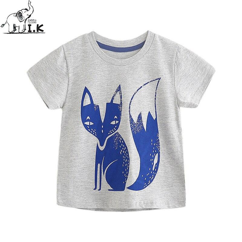 I.K Kids Baby Greg Fox Tees αγόρια κοντές μπλούζες παιδικές μπλούζες ... 73dc97a9ab2
