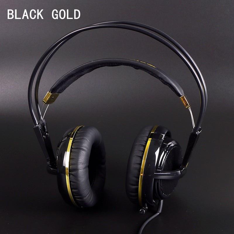 Black Gold Color Headset Steelseries Siberia V2 Brand Noise Isolating Game Headphones For Headphone Gamer Fast