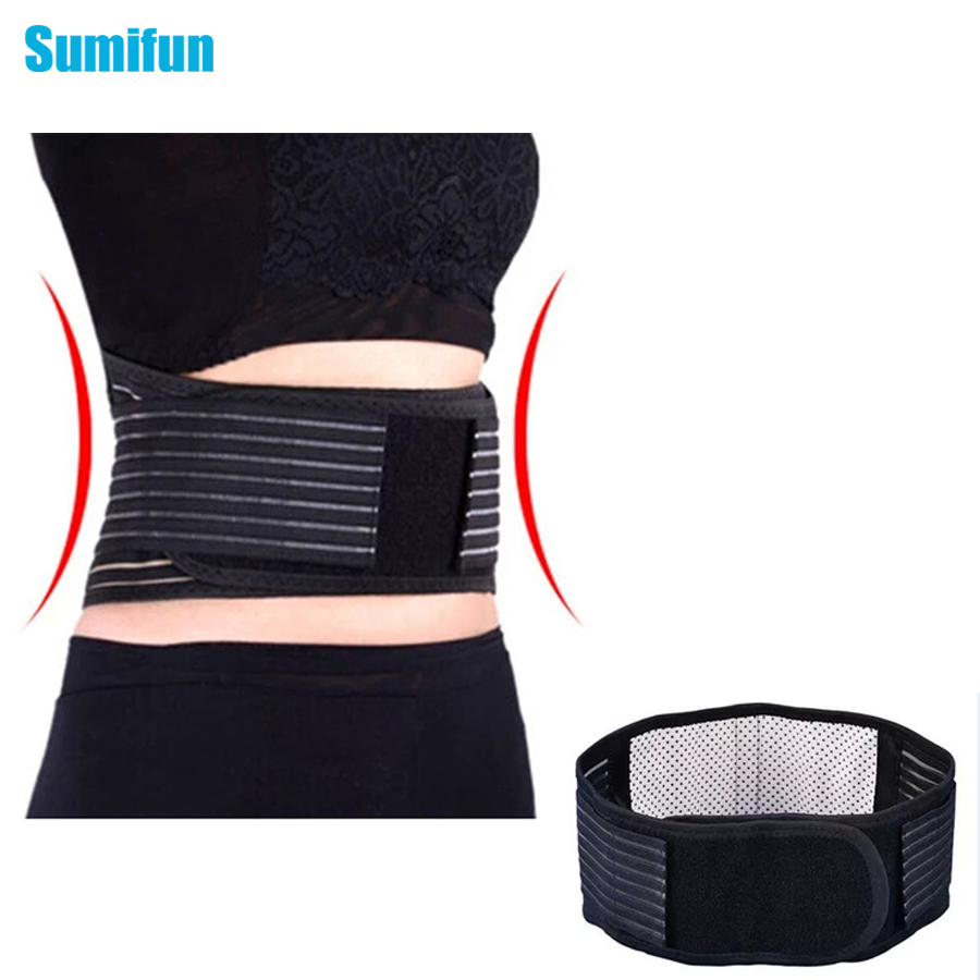 Tourmaline Self-heating Magnetic Therapy Waist Support Belt Lumbar Back Waist Support Brace Double Banded Adjustable C620