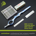 """7 """"sharp/delgada hoja de afeitar barbero peluquería adelgazamiento tijeras de corte de pelo peluquero razor razor cortes de pelo de peluquería"""