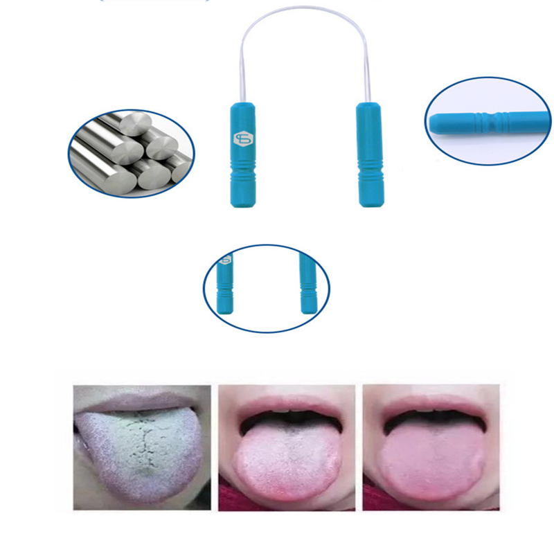 RORASA Healthy Tongue Cleaner Stainless Steel Silica Handle Tongue Scraper Oral Hygiene Dental Cleaning Brush Oral Care 3