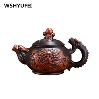 350ML Chinese Classical Yixing Teapot, All Handmade Tea Pot, Kung Fu Teaset Purple Clay Teapot ,Home/Office Tea sets,Tea Kettle