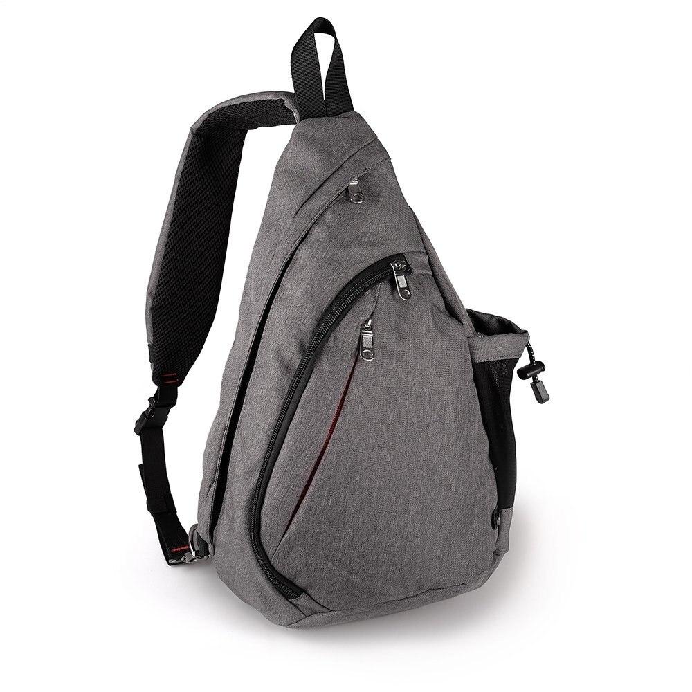 Large Capacity Chest Bag For Men Nylon Sling Bag Casual Crossbody Bags For Short Trip