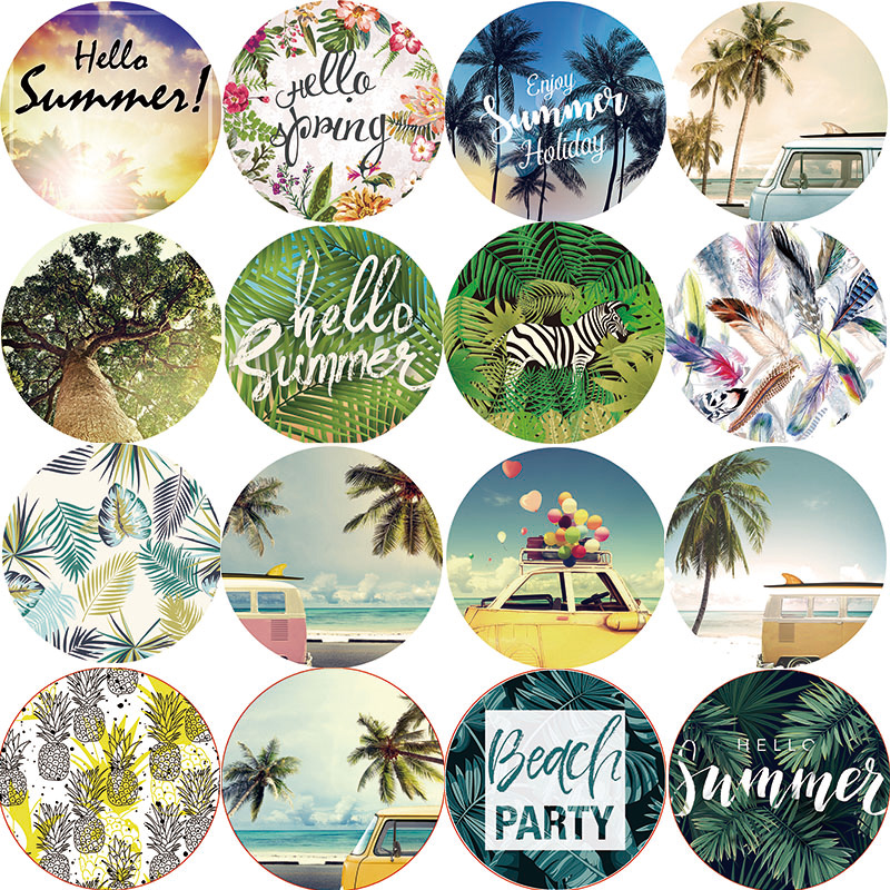 Hot sale tropical summer vacation sea beach party landscape beauty women ladies thin round beach towel large size 1500*1500mm