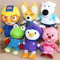 6pcs/lot Kawaii Hot Korea Pororo Little Penguin Stuffed Anime Plush Toys Doll Pororo and His Friends Plush Toys Soft Toy