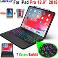 Для iPad Pro 12 9 2018 чехол для клавиатуры A1876 A2014 A1895 a1983. 7 цветов  с подсветкой  чехол для клавиатуры Bluetooth  чехол с отделением для карандашей