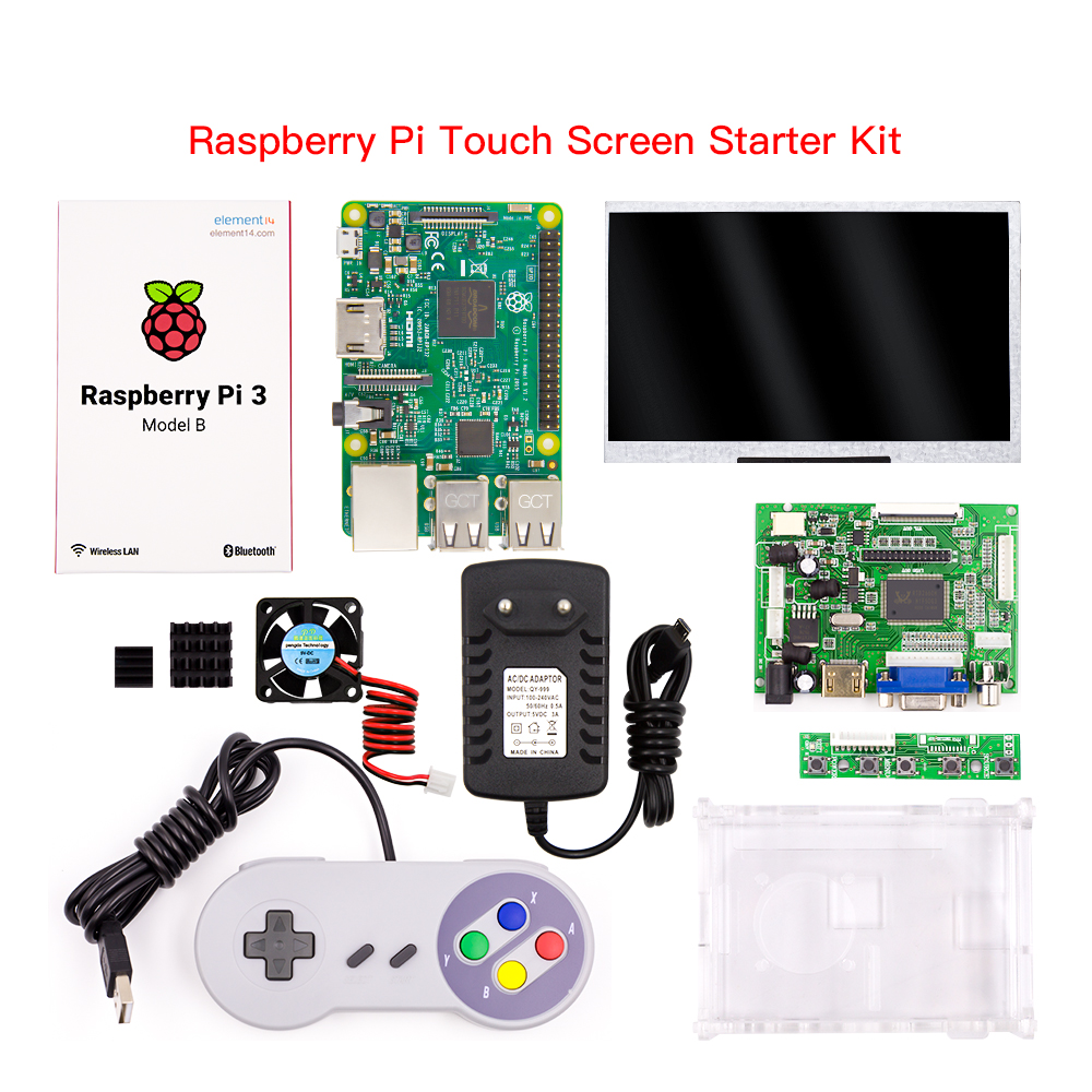 Wholesale Raspberry Pi 3 Model B Starter Kit With Raspberry Pi LCD Acrylic Case/7 Inch Touch Monitor/ Snes Games Usb ControllerWholesale Raspberry Pi 3 Model B Starter Kit With Raspberry Pi LCD Acrylic Case/7 Inch Touch Monitor/ Snes Games Usb Controller